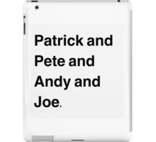 Fall Out Boy Names iPad Case/Skin