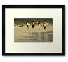 The Surfers Framed Print