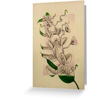Pea Plant Greeting Card