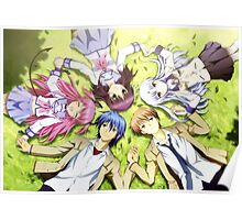 Angel Beats Holding Hands Poster