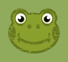 Cute Frog Face by piedaydesigns