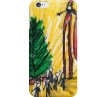 Santa on Stilts iPhone Case/Skin