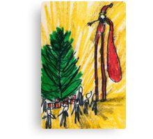 Santa on Stilts Canvas Print