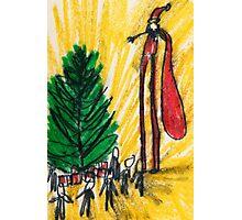 Santa on Stilts Photographic Print