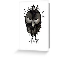 Grumpy Owl Greeting Card