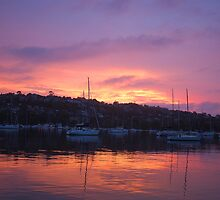 Pink Sky In The Morning- Middle Harbour, Sydney, Australia by Philip Johnson