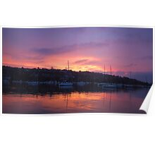 Pink Sky In The Morning- Middle Harbour, Sydney, Australia Poster
