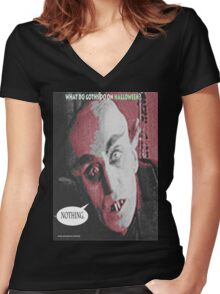 "'Count Orlock, the Vampire #3', FROM THE FILM "" Nosferatu vs. Father Pipecock & Sister Funk (2014)"" Women's Fitted V-Neck T-Shirt"