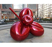 Sculpture and Reflection, Jeff Koons, Artist, Lower Manhattan, New York City Photographic Print