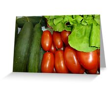 Salad Vegetables.....................French Style Greeting Card