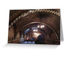 Historic City Hall Subway Station, New York City, Abandoned 1945  Greeting Card