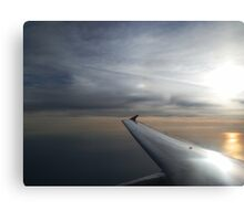 Sunrise Over the Ocean from Aeroplane Canvas Print