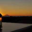 Sunset and lamp by Silvia Ganora