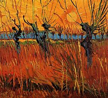 Vincent van Gogh, Willows at Sunset.  by naturematters