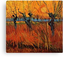 Vincent van Gogh, Willows at Sunset.  Canvas Print