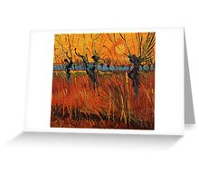 Vincent van Gogh, Willows at Sunset.  Greeting Card