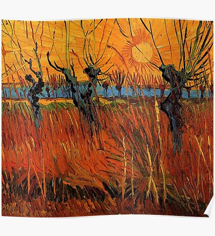 Vincent van Gogh, Willows at Sunset.  Poster