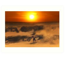 The Race On Sunset Art Print