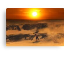 The Race On Sunset Canvas Print