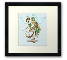 Minimalist Palutena from Super Smash Bros. 4 Framed Print