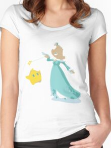 Minimalist Rosalina from Super Smash Bros. 4 Women's Fitted Scoop T-Shirt