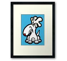 English Bull Terrier Christmas Reindeer  Framed Print