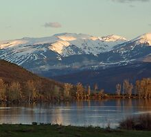 Snowmass Ski Area & Spring Creek Reservoir Sunrise by firegirl445