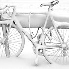 Snow covered bike by Lynette Dobson