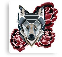 Rose Wolf Canvas Print