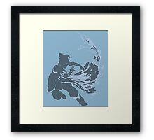 Minimalist Korra from Legend of Korra Framed Print