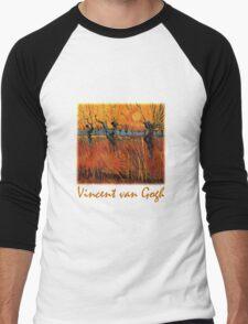 Vincent van Gogh, Willows at Sunset.  Men's Baseball ¾ T-Shirt