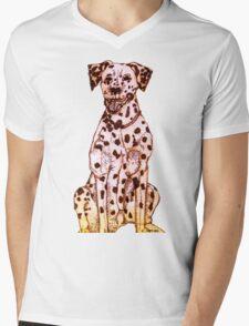 Dalmatian Mens V-Neck T-Shirt