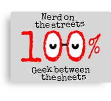 Nerd on the streets Canvas Print
