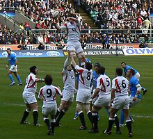 Rugby International - England Vs Italy by Vanessa Combes