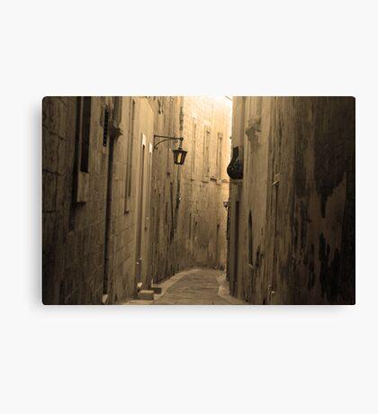 Old Mdina strait road Canvas Print