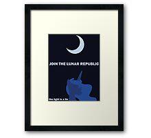 Lunar Republic Recruitment Framed Print