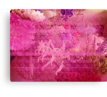 Breast Cancer Flowers Canvas Print