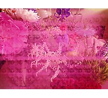 Breast Cancer Flowers Photographic Print