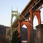 Sunrise of St. John's Bridge Portland Oregon by Ryan Nowell