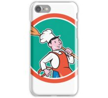 Chef Cook Marching Spoon Circle Cartoon iPhone Case/Skin