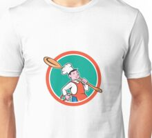 Chef Cook Marching Spoon Circle Cartoon Unisex T-Shirt
