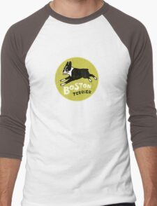 Vintage Style Boston Terrier Men's Baseball ¾ T-Shirt