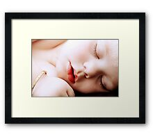 The only thing worth stealing is the kiss from a sleeping child Framed Print