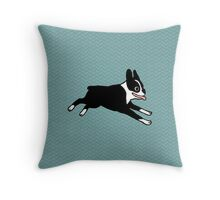 Jumping Boston Throw Pillow
