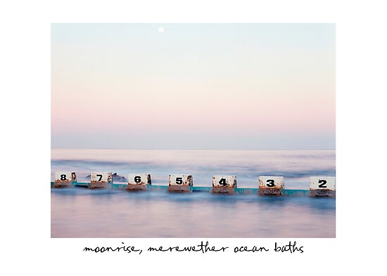 Moonrise, Merewether Ocean Baths, Newcastle Australia by Paul Foley