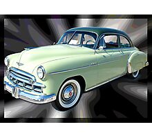 '49 Chevy Straight Up Photographic Print