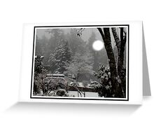 first snow fall of the season Greeting Card