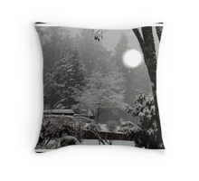 first snow fall of the season Throw Pillow