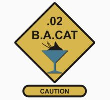 Sign Point Zero Two Blood Alcohol Cat Martini Kids Tee