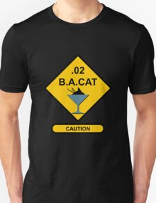Sign Point Zero Two Blood Alcohol Cat Martini T-Shirt
